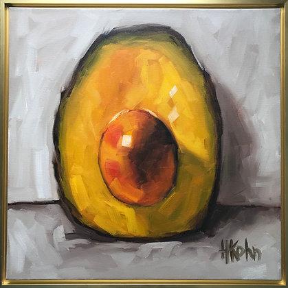 Avocado w Gold Frame