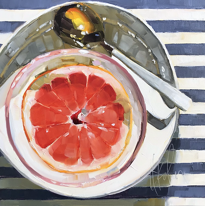 Grapefruit & Gold Spoon