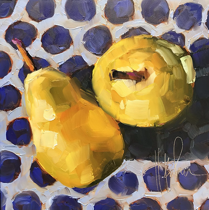 Pears on Indigo