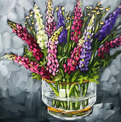 Lupine in Vase