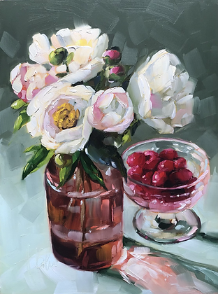 Peonies & Raspberries