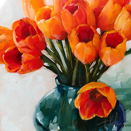 Orange Tulips II