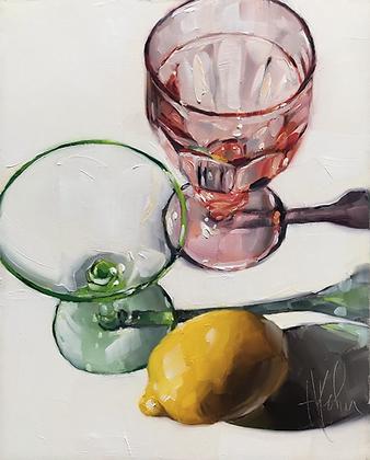 Vintage Glasses with Lemon