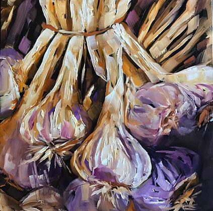 Violet Garlic (Villeneuve de Avignon)