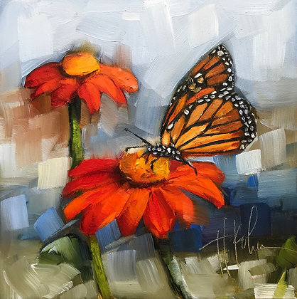 Monarch & Mexican Sunflowers