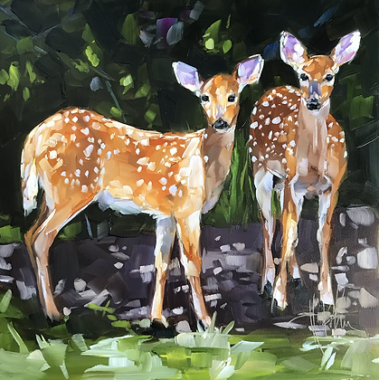 Fawn in Dappled Light