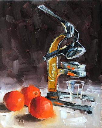 Vintage Juicer & Oranges
