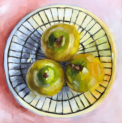 Pears, Geometric Dish