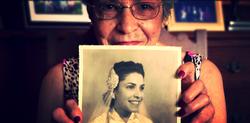 história da família avó retrato
