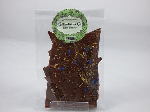 Fines feuilles chocolat au lait aux fleurs