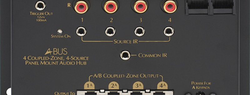 A-H484 4 Source, 4 Zone Surface Mount Hub