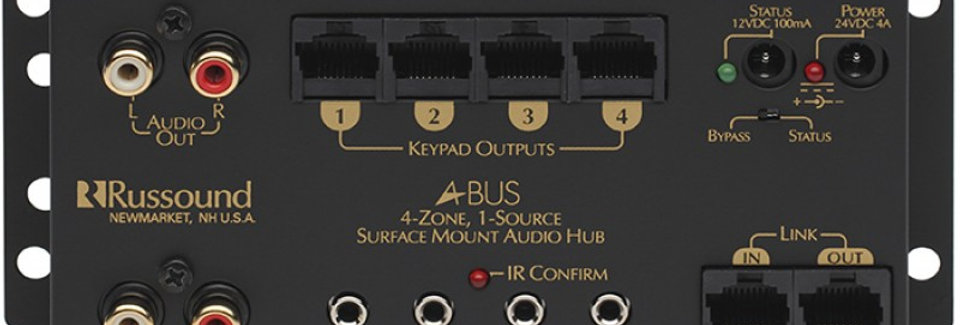A-H4 1 Source, 4 Zone Surface Mount Hub
