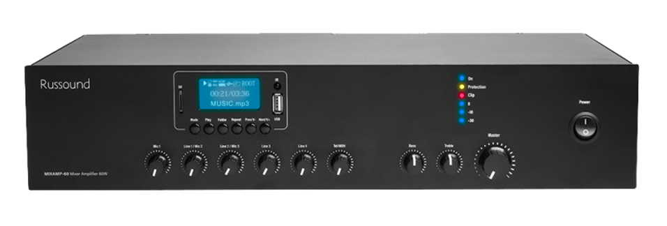 MIXAMP-60 70V Mixer Amplifier with Media Player