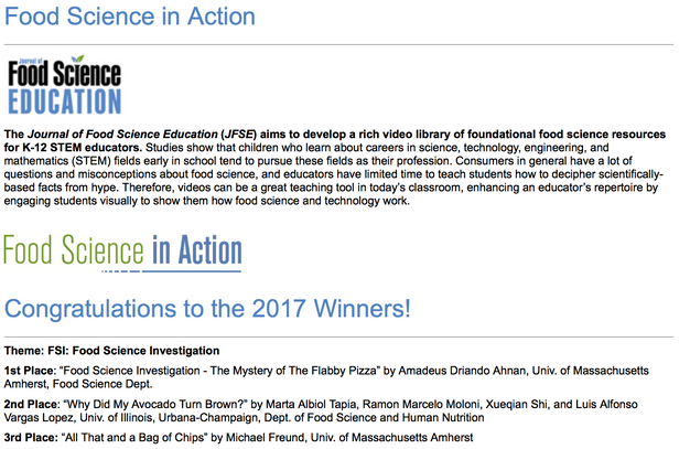 ITM Founder Won 1st Place in International Food Science Education Video Competition