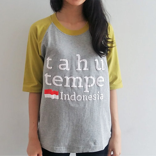 Tahu Tempe Tee in Grey