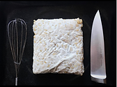 uncut fresh tempeh by Driando