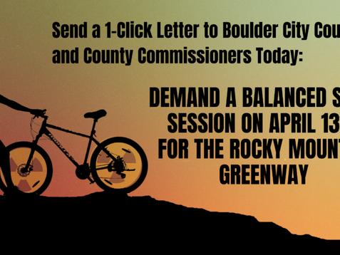 Action Alert:  Send a Letter to Boulder Demanding a Balanced Study Session