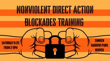 Nonviolent Direct Action Training 9/25!