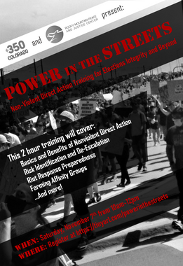 Power in the Streets: Non-Violent Direct Action for Elections Integrity and Beyond, November 7 & 12