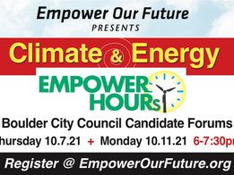 Empower Our Future Candidate Forum 10/6 & 10/11