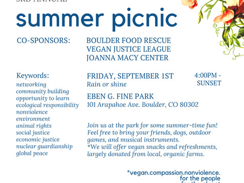 Join RMPJC at our 3rd Annual Summer Picnic!  September 1st