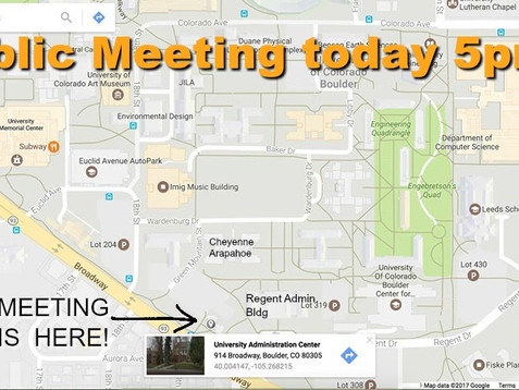 Fossil Free CU Public Meeting today at 5pm, May 2nd Chancellor's Building