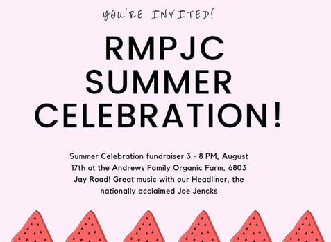 RMPJC Summer Celebration Fundraiser, August 17th