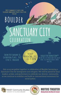 March 3rd, Sanctuary City Celebration