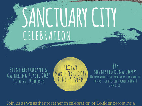 March 3rd, Sanctuary City Celebration