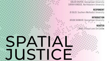 Panel on Spatial Justice as Research Practice