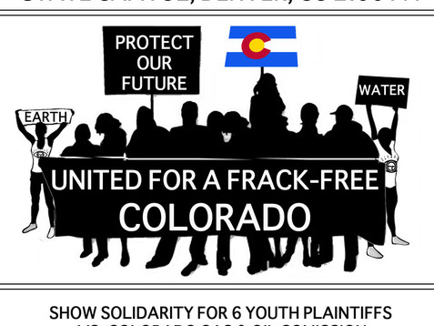 On February 20th, Earth Guardians invite you to attend: #YOUTHVGOV MARCH UNITED FOR A FRACK FREE COL
