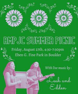 Summer Picnic 8/27/21!