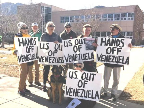 Demonstration Against U.S. Intervention and the U.S. Attempted Coup. March 9th