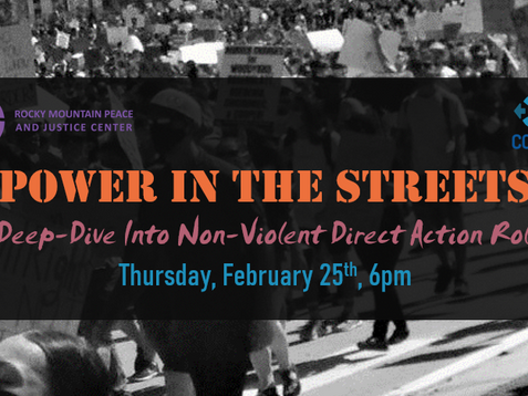Join Us This Thursday for a Non-Violent Direct Action Training!