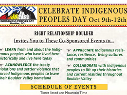 Indigenous Peoples Day Oct 9th-12th