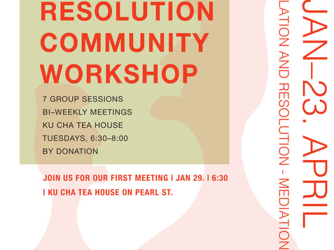 7-Week Conflict Resolution Workshop, 1st workshop on January 29th