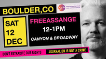 Demonstration to Free Julian Assange, December 12th