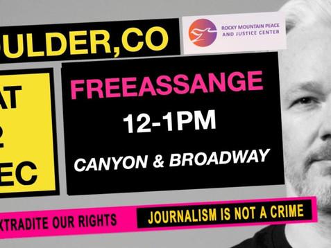 Demonstration to Free Julian Assange, December 12th