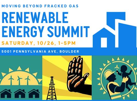October 26th, Renewable Energy Summit