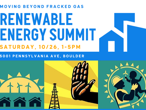 October 26th, Renewable Energy Summit