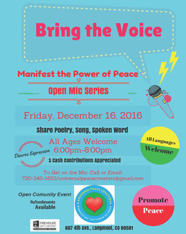 Bring the Voice, Open Mic Series, Friday December 16th