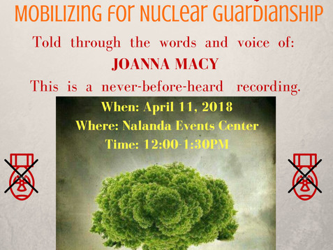 The Story of the Poison Fire: Mobilizing for Nuclear Guardianship Community Gathering, April 11th