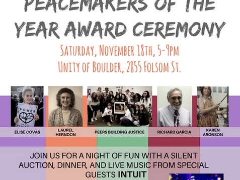2017 Peacemakers of the Year! November 18th