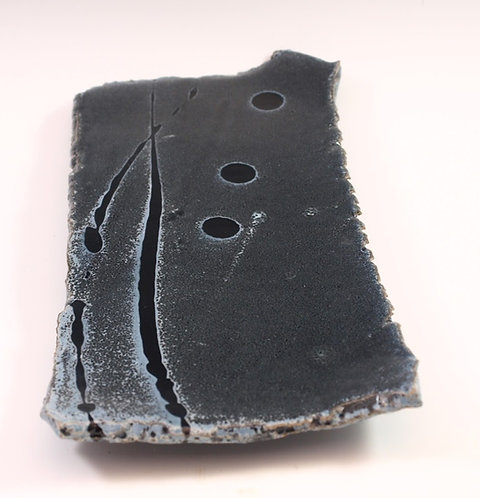 Live Edge Cheese Plate Lg Grey/Black