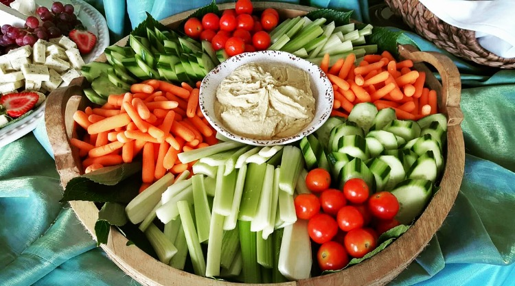 Vegetable and Hummus Platter