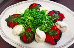 Portabello, Peppers, and Buratta