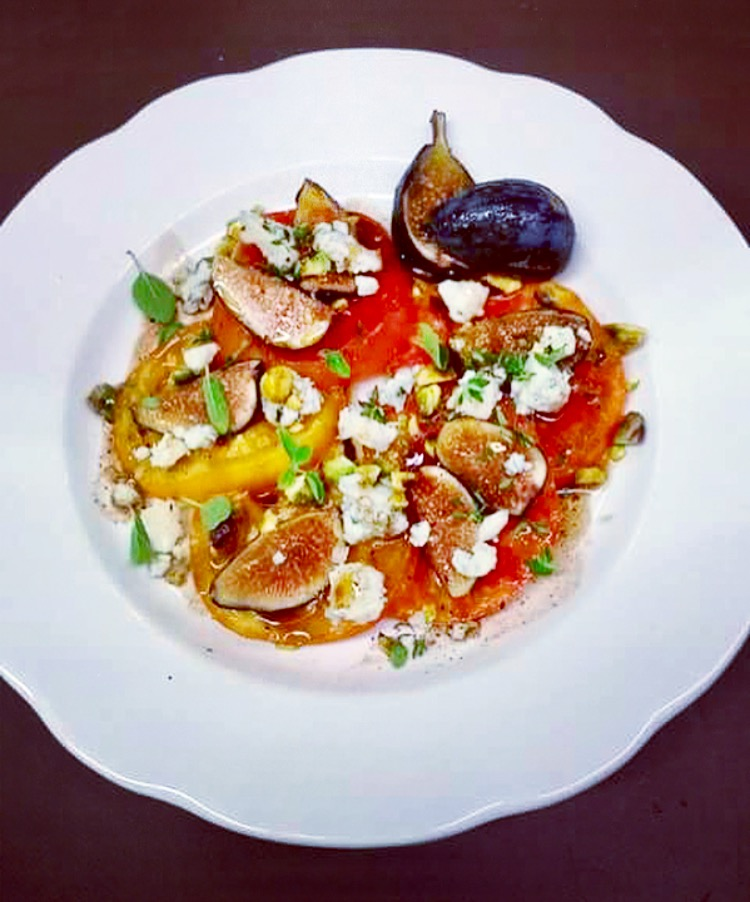 Tomato, Fig and Blue Cheese Salad