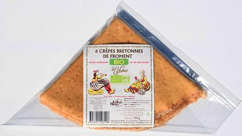 6 Crêpes Bretonnes de froment BIO Les Lichous