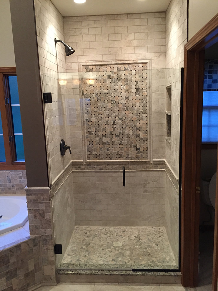 Good Tile Shower Picture Frame Inset