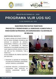 Nuestros proyectos temáticos: Proyecto 3: Soberanía alimentaria e innovación nutricional